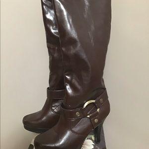 Jasmin Knee High Boots 6M Suzanna Style Brown